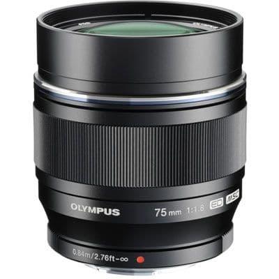 Olympus 75mm f1.8 M.ZUIKO Digital ED Lens  Black