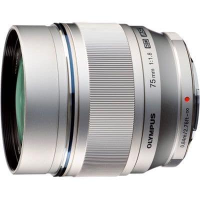 Olympus 75mm f1.8 M.ZUIKO PW EZ Silver Micro Four Thirds Lens