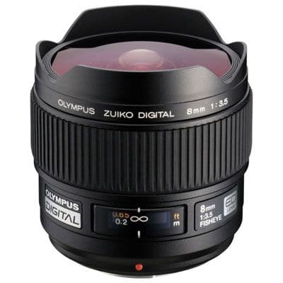 Olympus 8mm f3.5 Fisheye ZUIKO Digital Four Thirds lens