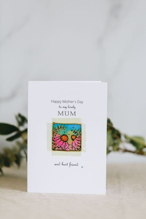 Alio Designs | Alison Ormsby | Silk Painted Handmade Mother's Day Card