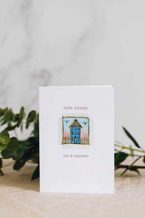 Alio Designs | Alison Ormsby | Silk Painted Handmade  New Home Card