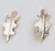 Becky Crow Oak Leaf Stud Earrings