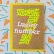 Bettie Confetti 'Lucky Number 7' Card