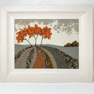 Eileen McNulty 'Golden Trees' Original Textile & Embroidery
