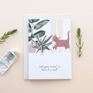 Hidden Pearl Studio 'Love & A Cat' Card