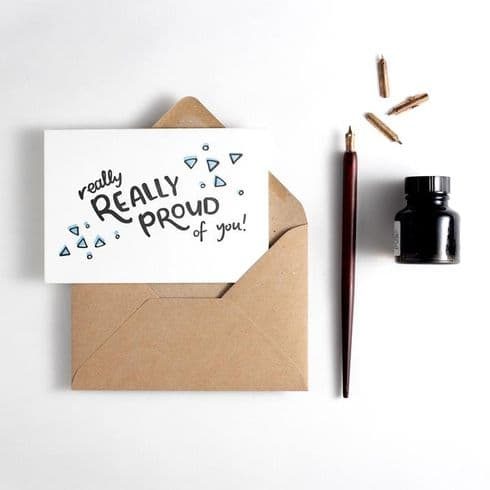 Hunter Paper Co | Really Proud Of You Card | Letterpress Well Done Congratulations Card