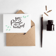 Hunter Paper Co   Relax it's Your Birthday Card