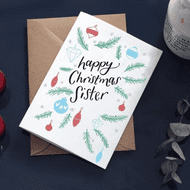 Hunter Paper Co   Sister Happy Christmas Card