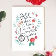 Jade Fisher 'All This Time I've Loved You' Card