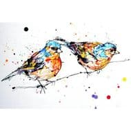 Kathryn Callaghan   Did you see that? Chaffinches Print