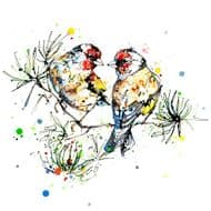 Kathryn Callaghan | I Turn to You Goldfinches Print