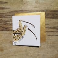 Liz Toole Hand Printed 'Curlew' Card