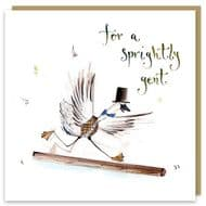 Louise Mulgrew 'For A Sprightly Gent' Card