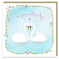 Louise Mulgrew On Your Wedding Day Swans Card