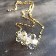 Margaret Napier Glass Mermaid Necklace (White & Gold)