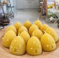 Michael Young MBE Beeswax Beehive Candle