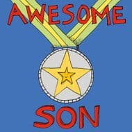 Poet & Painter | Awesome Son Card