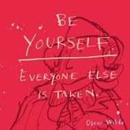 Poet & Painter | Be Yourself Oscar Wilde Quote Card