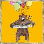 Poet & Painter | Happy Bear-day Card