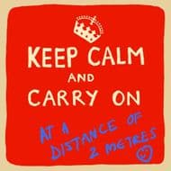 Poet & Painter | Keep Calm At A Distance Card