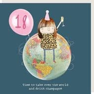 Rosie Made a Thing   18th Birthday Champagne Card