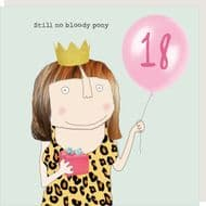 Rosie Made a Thing   18th Birthday Pony Card