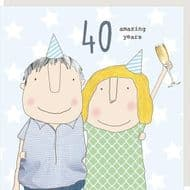 Rosie Made a Thing   40 Amazing Years Card