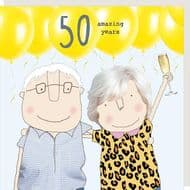 Rosie Made a Thing   50 Amazing Years Card