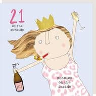 Rosie Made a Thing   Bubbles 21st Birthday Card