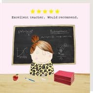 Rosie Made a Thing 'Excellent Teacher' Woman Card