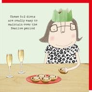 Rosie Made a Thing 'Festive Diets' Christmas Card
