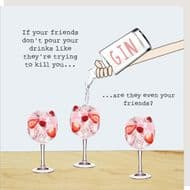 Rosie Made a Thing   Friends Drinks Card