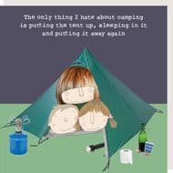 Rosie Made a Thing   Hate Camping Card