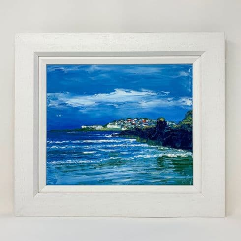 Stephanie Noble Artist - 'Portstewart from the Strand' Original Oil on Canvas