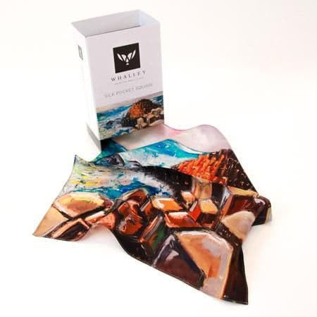 Stephen Whalley - 'Giant's Causeway' 100% Silk Pocket Square