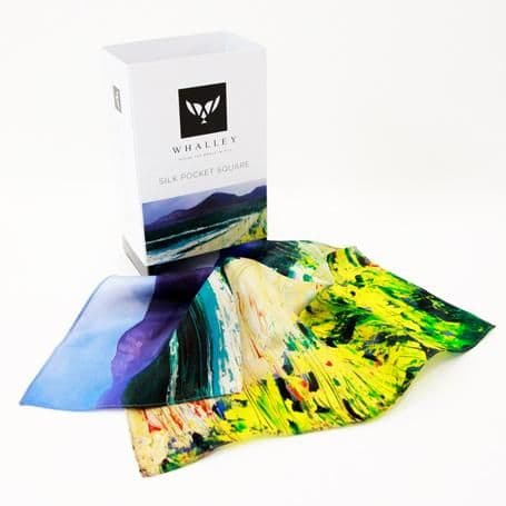 Stephen Whalley - 'Newcastle' 100% Silk Pocket Square