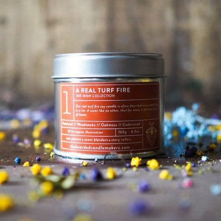 The Bearded Candle Makers   01 A Real Turf Fire Hand-Poured Soy Candle