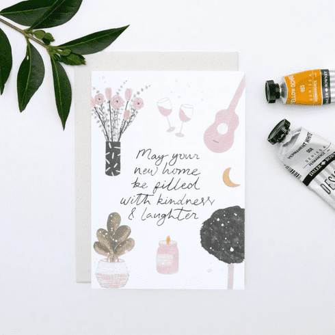 The Hidden Pearl Studio | New Home Moving House Card | New Home Cards