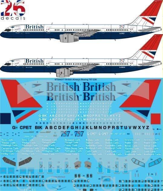 26 Decals 1/144 British Airways Negus & Negus Boeing 757-236 # STS44377