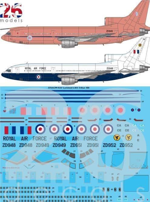 26 Decals 1/144 RAF TriStar 500 # STS44399