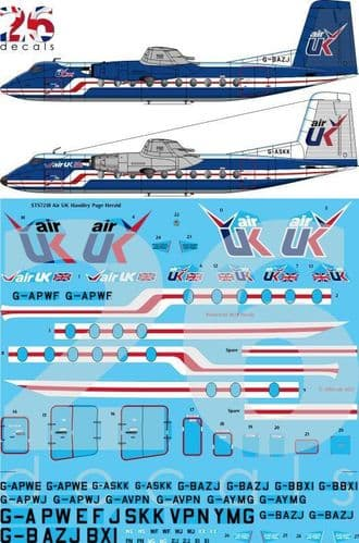 26 Decals 1/72 Air UK Handley Page Herald # STS7218