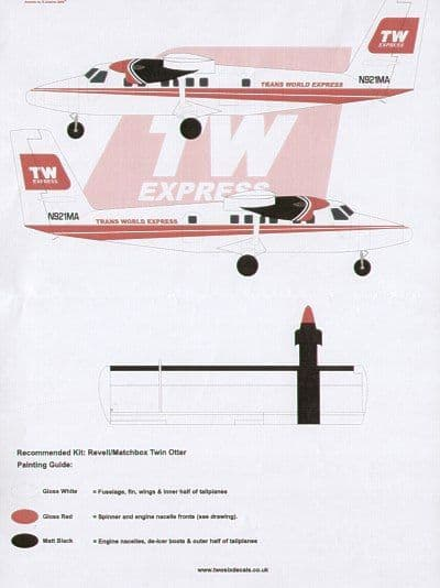 26 Decals 1/72 DHC-6 Twin Otter TW Express # STS7202
