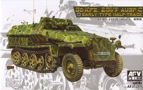 AFV Club 1/35 German Sd.Kfz.251/9 Ausf.C Early Type Half-Track # AF35251
