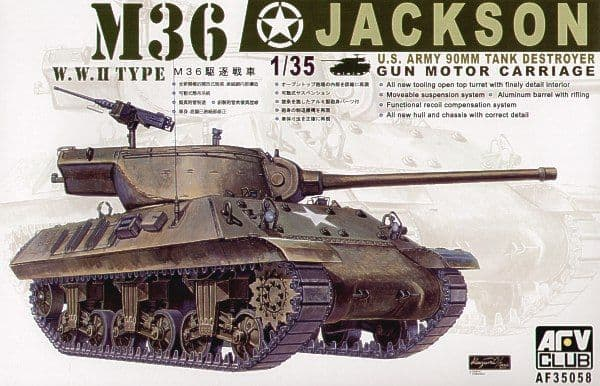 AFV Club 1/35 M36 Jackson 90mm US Tank Destroyer # AF35058