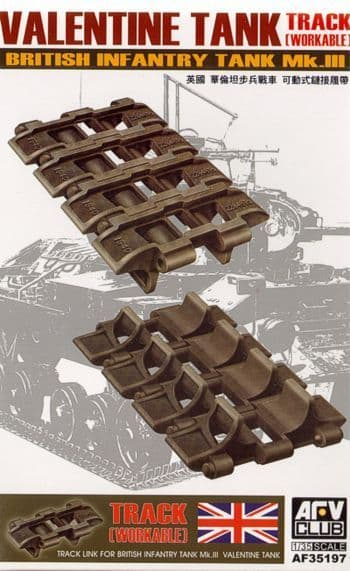 AFV Club 1/35 Valentine Tank Tracks Workable # AF35197
