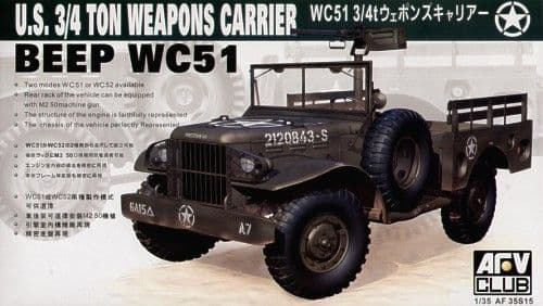 AFV Club 1/35 WC51 3/4 Ton Weapons Carrier # AF35S15