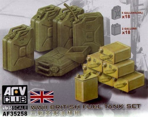 AFV Club 1/35 WWII British Fuel Tank Set # AF35258