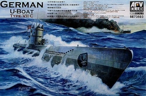 AFV Club 1/350 German U-Boat Type VII C # SE73503