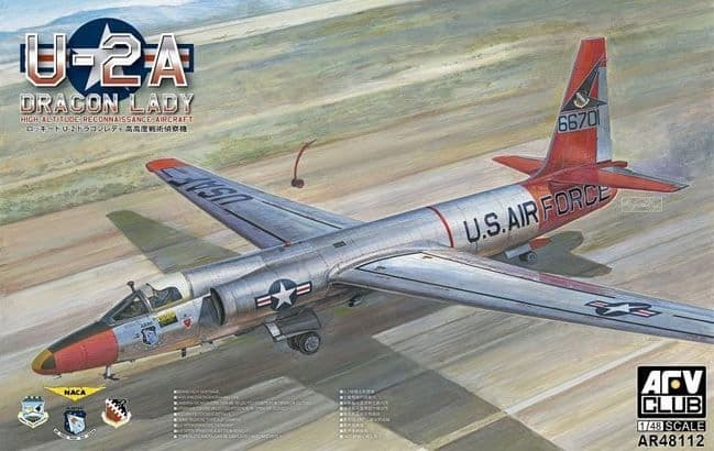 AFV Club 1/48 U-2A Dragon Lady High Altitude Reconnaissance Aircraft # AR48112