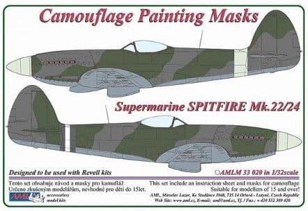 AML 1/32 Supermarine Spitfire Mk.22/24 Camouflage Painting Masks # M3320